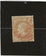 TIMBRE N° 28 B NAPOLEON III LAURE -CACHET A DATE ROUGE DES IMPRIMES -COTE : 50 € - 1863-1870 Napoleon III With Laurels