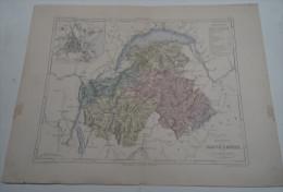 @ ANCIENNE CARTE ETAT MAJOR DEPARTEMENT 74 HAUTE SAVOIE AVANT LA GUERRE 14 PLAN D´ANNECY - Geographical Maps