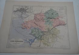@ ANCIENNE CARTE ETAT MAJOR DEPARTEMENT 44 LOIRE INFERIEURE AVANT LA GUERRE 14 PLAN DE NANTES - Geographical Maps