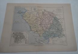 @ ANCIENNE CARTE ETAT MAJOR DEPARTEMENT 85 VENDEE AVANT LA GUERRE 14 PLAN DE LA ROCHE SUR YON - Geographical Maps