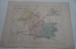 @ ANCIENNE CARTE ETAT MAJOR DEPARTEMENT 41 LOIR ET CHER AVANT LA GUERRE 14 PLAN DE  BLOIS - Geographical Maps