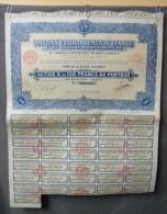 Action Coupon : Anciens établissements Lesage - Ste Hôtelière & Immobilière - Action A .100 Francs  - Paris 1928 - Banque & Assurance