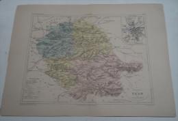 @ ANCIENNE CARTE ETAT MAJOR DEPARTEMENT 81 TARN AVANT LA GUERRE 14 PLAN DE ALBI - Geographical Maps