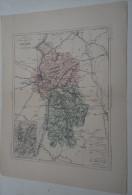 @ ANCIENNE CARTE ETAT MAJOR DEPARTEMENT 69 RHONE AVANT LA GUERRE 14  PLAN DE LYON - Geographical Maps