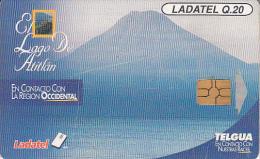 GUATEMALA - Volcano, El Lago De Atitlan, Chip GEM 3.1, Used - Volcans