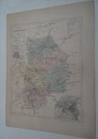 @ ANCIENNE CARTE ETAT MAJOR DEPARTEMENT 77 SEINE ET MARNE AVANT LA GUERRE 14  PLAN DE MELUN - Geographical Maps