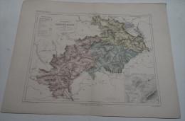 @ ANCIENNE CARTE ETAT MAJOR DEPARTEMENT 05 HAUTES ALPES AVANT LA GUERRE 14  PLAN DE GAP - Geographical Maps