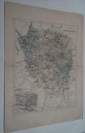 @ ANCIENNE CARTE ETAT MAJOR DEPARTEMENT 78 SEINE ET OISE  AVANT LA GUERRE 14 PLAN DE VERSAILLES - Geographical Maps