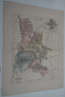 @ ANCIENNE CARTE ETAT MAJOR DEPARTEMENT 26 DROME AVANT LA GUERRE 14 PLAN DE VALENCE - Geographical Maps