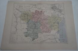 @ ANCIENNE CARTE ETAT MAJOR DEPARTEMENT 11 AUDE AVANT LA GUERRE 14 PLAN DE CARCASSONNE - Geographical Maps