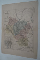 @ ANCIENNE CARTE ETAT MAJOR DEPARTEMENT 89 YONNE AVANT LA GUERRE 14 PLAN D´ AUXERRE - Geographical Maps