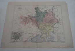 @ ANCIENNE CARTE ETAT MAJOR DEPARTEMENT 30 GARD  AVANT LA GUERRE 14 PLAN DE NIMES - Geographical Maps