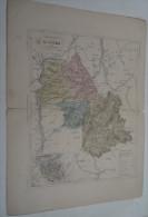 @ ANCIENNE CARTE ETAT MAJOR DEPARTEMENT 38 ISERE  AVANT LA GUERRE 14 PLAN DE GRENOBLE - Cartes Géographiques