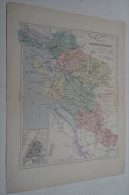 @ ANCIENNE CARTE ETAT MAJOR DEPARTEMENT 17 CHARENTE INFERIEURE  AVANT 1912 PLAN DE LA ROCHELLE - Mapas