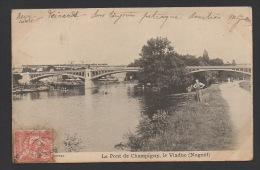 DF / 94 VAL DE MARNE / NOGENT SUR MARNE / LE PONT DE CHAMPIGNY, LE VIADUC / CIRCULÉE EN 1903 - Nogent Sur Marne