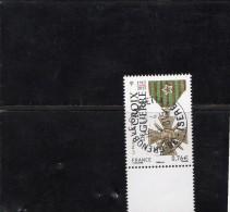 France 2015. La Croix De Guerre.Cachet Rond.Gomme D´Origine - France