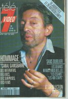 "TELE 7 VIDEO  N° 154  "" SERGE GAINSBOURG  "" -    FEVRIER 1992 - Télévision"