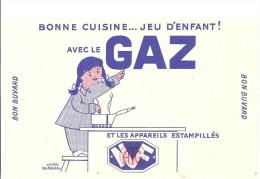 Buvard Bonne Cuisine ... Jeu D´enfant! Avec Le Gaz - Electricité & Gaz