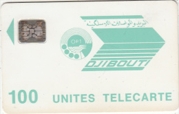 DJIBOUTI - OPT Logo 100 Units, CN : 36240, Chip SC4, Used - Djibouti