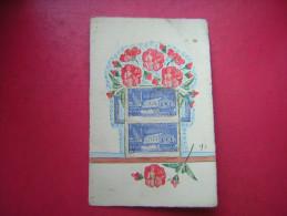 CPSM   ARTISANALE  PHILATELIE  / PHILATELIQUE VOYAGEE TIMBRE EXPOSITION DE L'EAU A LIEGE 1939 SECTION FRANCAISE  MACHINE - Cartes Postales