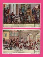 4 Chromos LIEBIG - Histoire Du France - Lyautey - Succession D´Espagne - Porte Romaine à Autun - Péronne - LEMCO - Liebig