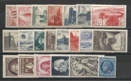ANNEE 1947 COMPLETE - YVERT N°772/792 ** - COTE = 36 EUROS - - France