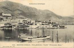 """Depts Divers- Monaco - Ref  BB632 - Monte Carlo - Vue Generale - Yacht """" Princesse Alice """" - Yachts - - Monte-Carlo"""