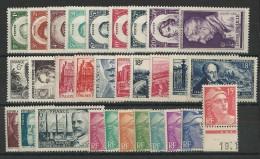 ANNEE 1948 COMPLETE - YVERT N°793/822 ** - COTE = 65 EUROS - - 1940-1949