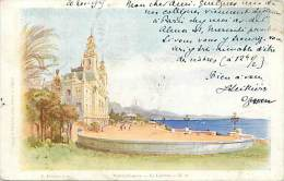 Depts Divers- Monaco - Ref  BB630 - Monte Carlo -  Le Casino - Carte Illustree - Illustrateur Lessieux - - Monte-Carlo