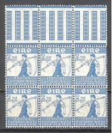 Irlande: Yvert N°59**; Le Bloc De 6; Fraicheur Postale; Voir Scan - 1949-... Republic Of Ireland