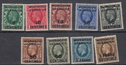 Morocco Agencies 1935 KGV French Currency Mon Fra Harrison SG216-224 Complete Set MLH - Altri