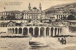 Depts Divers- Monaco - Ref  BB629 - Monte Carlo -  Vue Prise De La Mer - Canot Automobile - N°13 - Carte Bon Etat - - Monte-Carlo