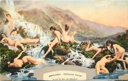 Depts Divers- Monaco - Ref  BB628 - Monte Carlo -  Etablissement Thermal - La Joie De Leau Par Galleli - Carte Bon Etat - Monte-Carlo