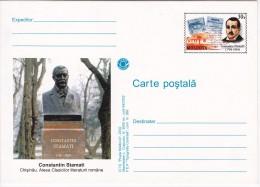 Moldova   Moldavie   Moldawien   Moldau    2002 , Chisinau , Monument Of  Writer  C.Stamati , Pre-paid Postcard - Moldova