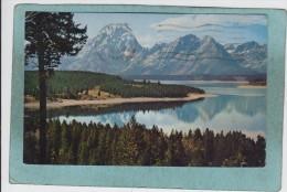 JACKSON  LAKE  AND  TETON  RANGE  -  1965 -  CARTE  PHOTO  - - Etats-Unis