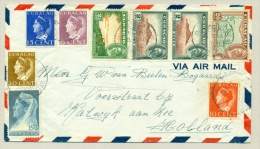 Curacao - 1946 -  Leuke Mengfrankering Met Waarden Uit 4 Series - Curaçao, Antilles Neérlandaises, Aruba