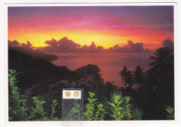 Polynésie Française / Marquises / Hiva Oa - Coucher De Soleil - Polynésie Française
