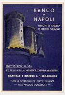PUBBLICITARIA BANCO DI NAPOLI ANNI 40 - Publicité