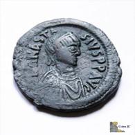 Imperio Bizantino - Anastasio - Follis - 498-518dC - Byzantines