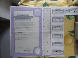 Società Pel Risanamento Di Napoli  Anno 1982 N.CENTO  Azioni + Cedole - Azioni & Titoli