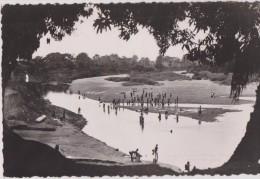 Carte Rare,dahomey,fleuve Du TOGO , Bénin ,le MONO,à Athième,longueur 467km,l´heure De La Baignade Collectif,rare - Benin