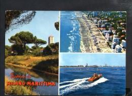 P1038 SALUTI DA MILANO MARITTIMA ( Cervia, Ravenna ) PINETA E CANALETTO, SPIAGGIA - ED. LEONARDI - Italia