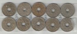 10 X 10 CENTIMES LINDAUER DE 1929 à 1938 LOT 3 - D. 10 Centimes
