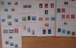 SMALL COLLECTION LIECHTENSTEIN STAMPS 1945-1958 FLIGHT WORKERS - Unclassified