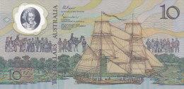 Ten Dollars 10 - Hologramme, Bateau, Aborigène (FDC - UNC) - Emissions Gouvernementales Décimales 1966-...