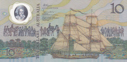 Ten Dollars 10 - Hologramme, Bateau, Aborigène (FDC - UNC) - Decimaal Stelsel Overheidsuitgave 1966-...