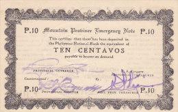 Philippines - Ten Centavos Emergency Note  (FDC - UNC) 1942 - Philippines