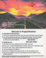 USA - Sprint PCS, Sprint Prepaid Card, Sample