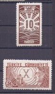 Turkey1933: Michel969-70mnh**Scott763-4 (high Values Of The Set) - 1921-... Republic