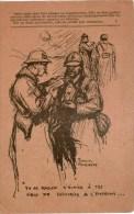 Correspondance Des Armées De La République Carte En Franchise Dessin De FORQUERAY  ,a Circulé - Guerre 1914-18